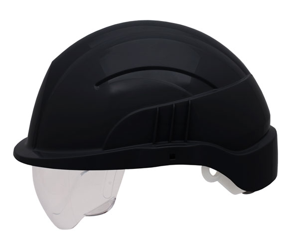 VISION PLUS SAFETY HELMET WITH INTEGRATED VISOR - CNS10PLUSEBLA