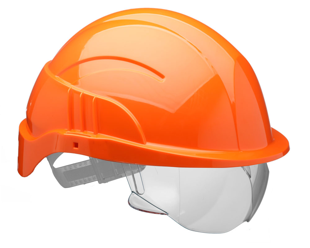 VISION PLUS SAFETY HELMET INTEGRATED VISOR - CNS10PLUSEORA