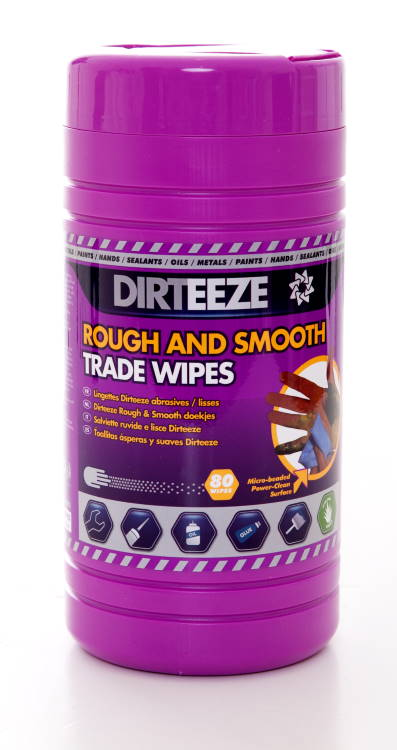 ROUGH AND SMOOTH WIPES (TUB OF 80) - DZRS80