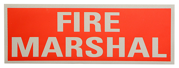 FIRE MARSHAL REFLECTIVE BACK  - FMRB