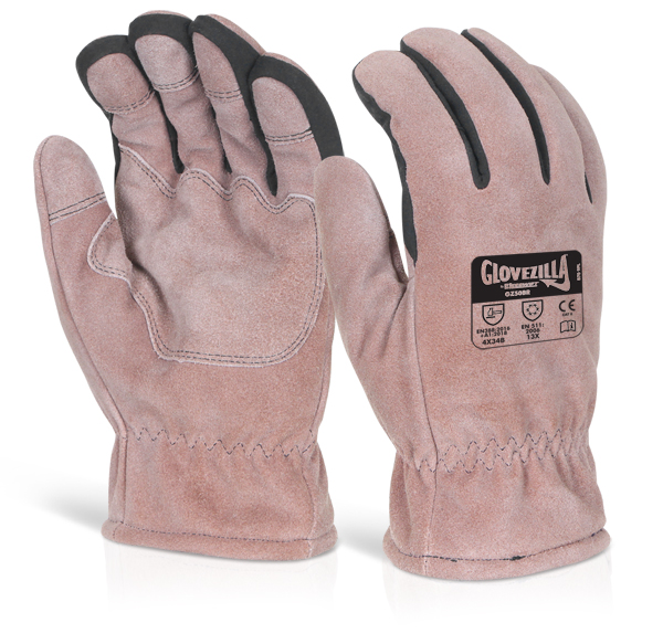GLOVEZILLA THERMAL LEATHER GLOVE - GZ50BR