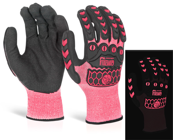 GLOVEZILLA GLOW IN THE DARK FOAM NITRILE GLOVE - GZ66