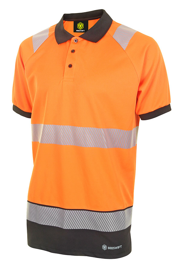HIVIS TWO TONE POLO SHIRT SHORT SLEEVE - HVTT010