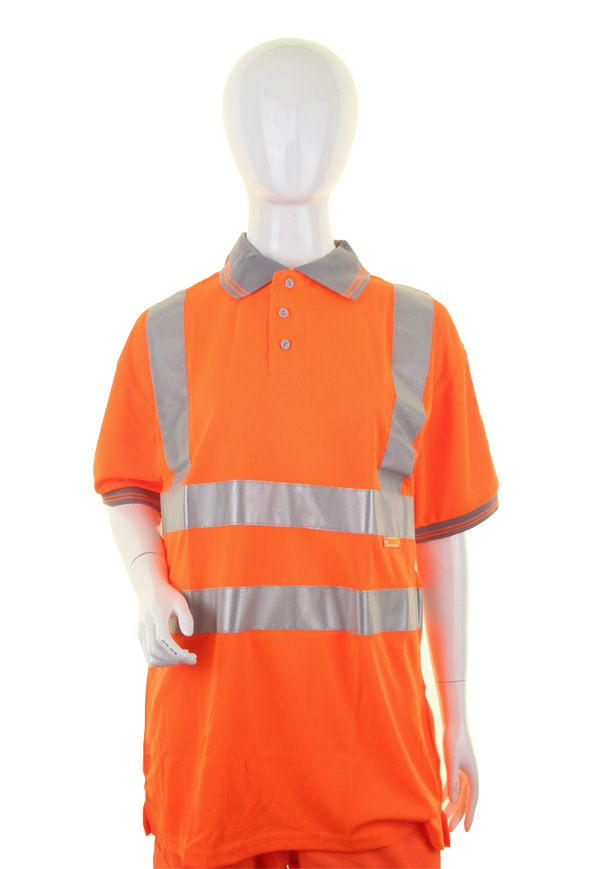 LADIES HIVIZ S/S POLO - LPK26OR
