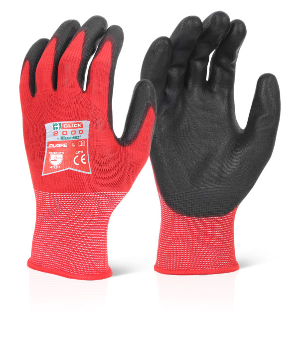 PU COATED GLOVE RED - PUGRE