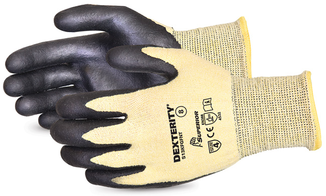 DEXTERITY® NITRILE PALM-COATED CUT-RESISTANT STRING-KNIT GLOVE - SUS13KFGFNT