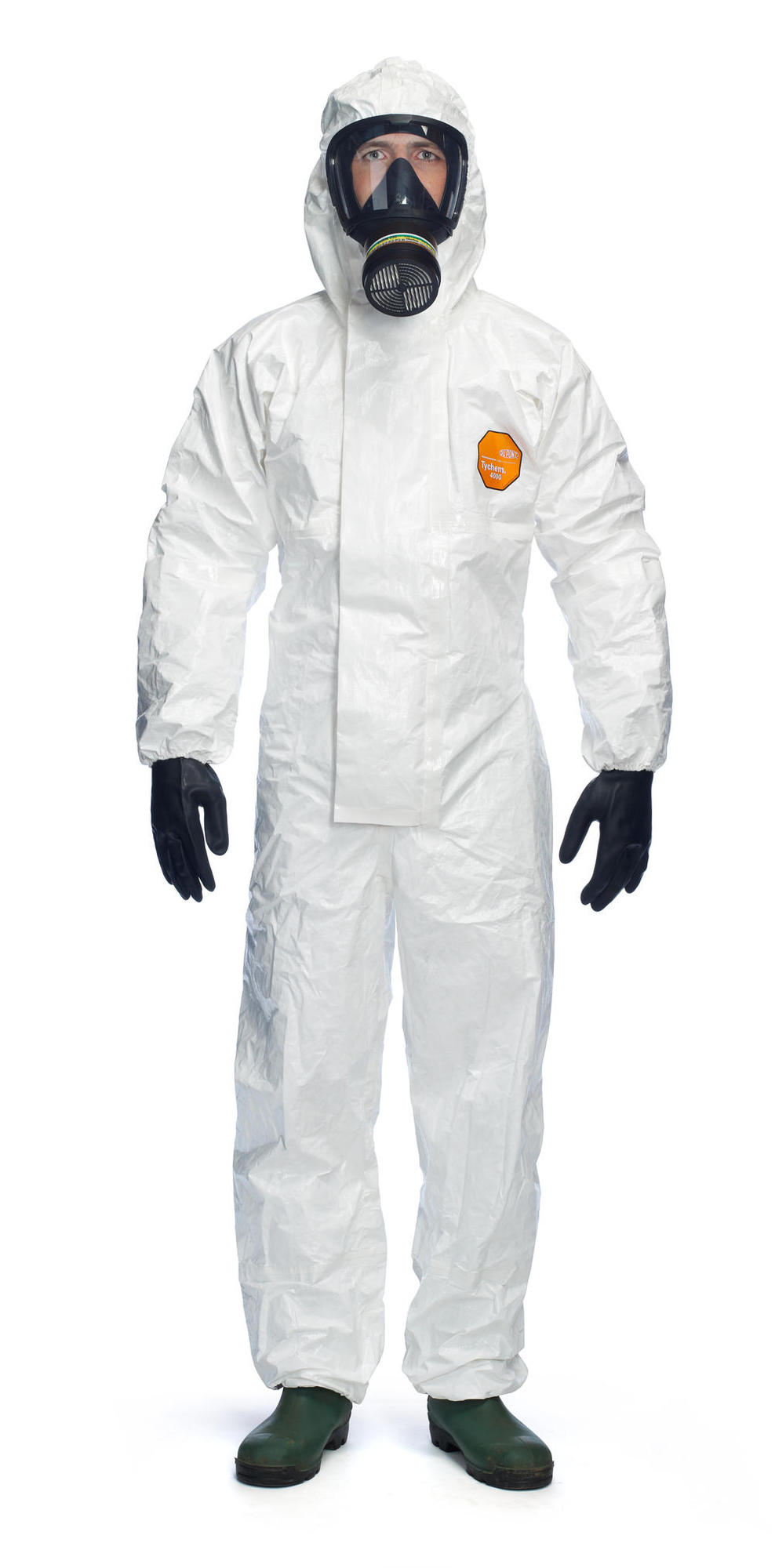 TYCHEM 4000S CHZ5 HOODED COVERALL - TY4000BS
