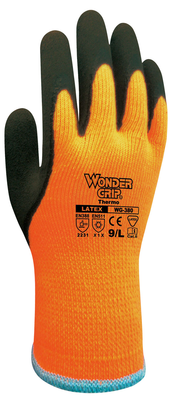 WONDER GRIP THERMO LATEX COATED GLOVES - WG380