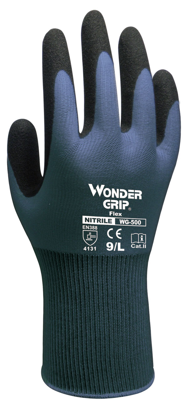WONDER GRIP FLEX GLOVES BLUE 09/L - WG500B